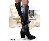 Сапоги питон,евро зима на каблуке, фото 3