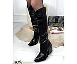 Сапоги питон,евро зима на каблуке, фото 2
