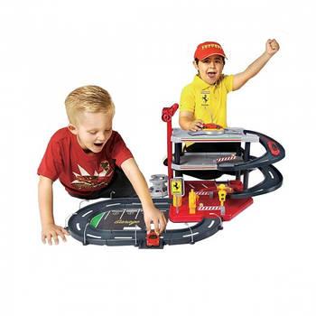 Игрушечный гараж с машинками Ferrari 1:43 3 уровня  3 Уровня 2 машинки Bburago (18-31204)