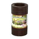Лента бордюрная для огорода  Альта-Профиль с перфорацией 0,65х150х9000 мм коричневый, фото 2