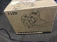 Тактический универсальный аккумуляторный налобный фонарь W-627-T6, фото 4