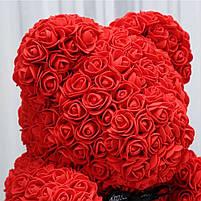 Мишка из 3D роз 40см в красивой подарочной упаковке мишка Тедди из роз оригинальный подарок, фото 7