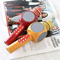 Беспроводной портативный микрофон WSTER WS-1816 для караоке с подсветкой Bluetooth, фото 5