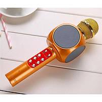 Беспроводной портативный микрофон WSTER WS-1816 для караоке с подсветкой Bluetooth, фото 7