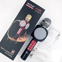 Беспроводной портативный микрофон WSTER WS-1816 для караоке с подсветкой Bluetooth, фото 8