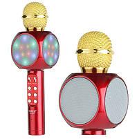 Беспроводной портативный микрофон WSTER WS-1816 для караоке с подсветкой Bluetooth, фото 9