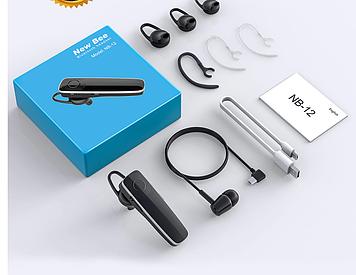 New Bee NB-12 Беспроводная Bluetooth-гарнитура мини-наушники с микрофоном
