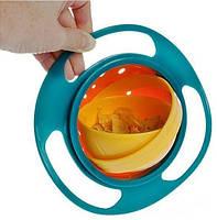 Детская тарелка-неваляшка Universal Gyro Bowl из экологически безопасного пластика, фото 4