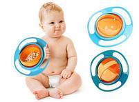Детская тарелка-неваляшка Universal Gyro Bowl из экологически безопасного пластика, фото 6