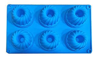 Форма силиконовая для выпечки Втулка 6 шт