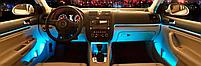 Cветодиодная RGB лента для подсветки салона автомобиля с пультом ДУ 4 шт по 18 лед ELITE LUX EL-1228, фото 6