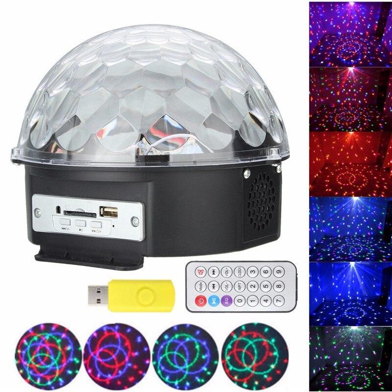 Музыкальный диско-шар с Bluetooth, USB, светомузыкой, 2-я динамиками и пультом