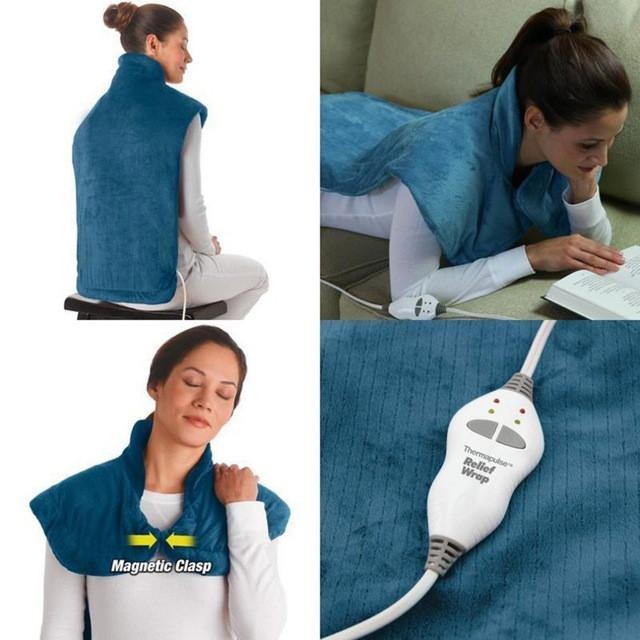 Массажер для спины и шеи Relief Wrap, вибрационный и тепловой массажер
