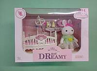 Игровой набор детская кроватка с белым зайчиком для лол, фото 1