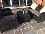 Комплект садових меблів Allibert by Keter Modena Lounge Set with Storage Table Brown ( коричневий ), фото 4