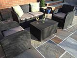 Комплект садових меблів Allibert by Keter Modena Lounge Set with Storage Table Brown ( коричневий ), фото 5