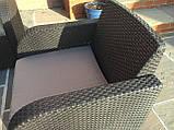 Комплект садових меблів Allibert by Keter Modena Lounge Set with Storage Table Brown ( коричневий ), фото 10