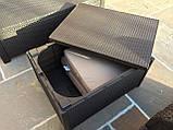 Комплект садових меблів Allibert by Keter Modena Lounge Set with Storage Table Brown ( коричневий ), фото 9