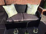 Комплект садових меблів Allibert by Keter Modena Lounge Set with Storage Table Brown ( коричневий ), фото 8