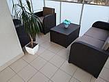 Комплект садових меблів Allibert by Keter Modena Lounge Set with Storage Table Brown ( коричневий ), фото 7