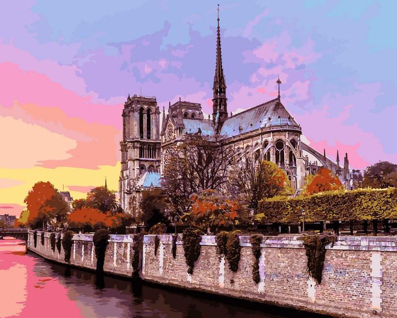 Картина рисование по номерам Babylon Собор Парижской Богоматери 40х50см VP939 набор для росписи, краски,