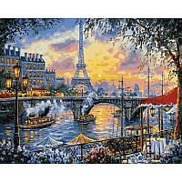 Картина рисование по номерам Babylon Небо Парижа 40х50см VP1030 набор для росписи, краски, кисти, холст
