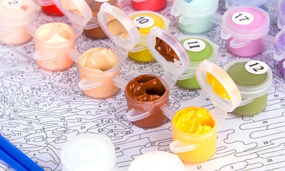Картина рисование по номерам Идейка Лавандовый домик КНО2293 40х50см набор для росписи, краски, холст, кисти