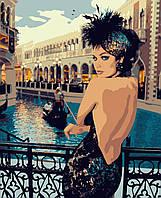 Картина рисование по номерам Artissimo Чарівна незнайомка PN2125 40х50 см роспись по номерам набор, краски,