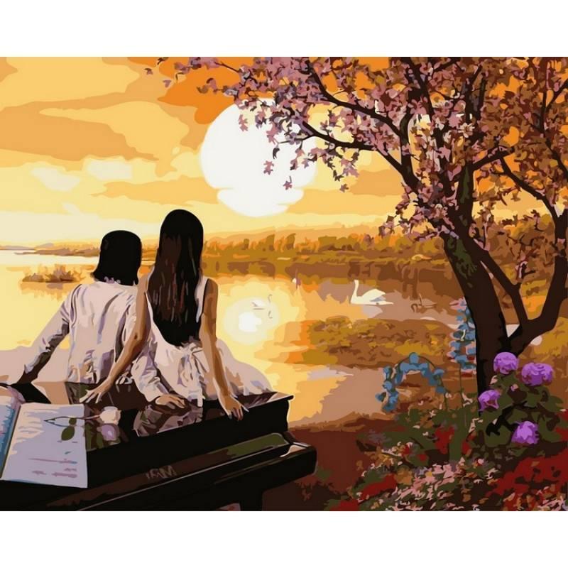 Картина рисование по номерам Babylon Закат в раю 40х50см VP380 набор для росписи, краски, кисти, холст