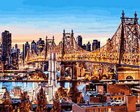 Картина рисование по номерам Babylon Мост Куинсборо в Нью-Йорке 40х50см VP1245 набор для росписи, краски,
