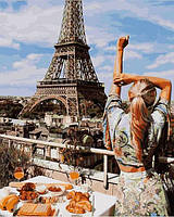Картина рисование по номерам Babylon Утро в Париже 40х50см VP1240 набор для росписи, краски, кисти, холст