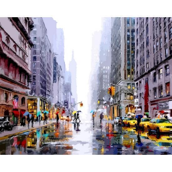 Картина рисование по номерам Babylon Зима в Нью-йорке 40х50см VP1200 набор для росписи, краски, кисти, холст