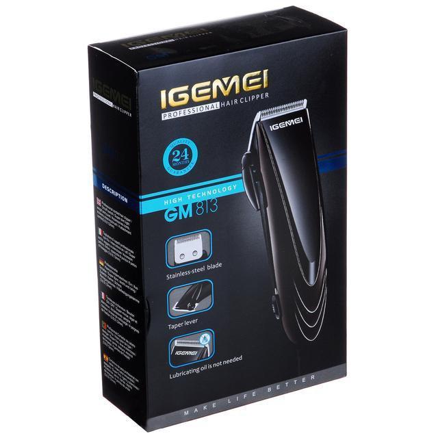 Профессиональная машинка - триммер для стрижки волос Gemei GM-813 с насадками