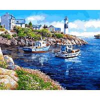 Картина рисование по номерам Mariposa Морская бухта 40х50см Q2178 набор для росписи, краски, кисти, холст