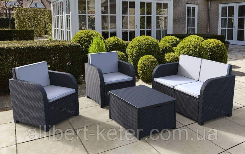 Комплект садовой мебели Allibert by Keter Modena Lounge Set with Storage Table Graphite ( графит )