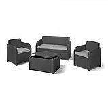 Комплект садовой мебели Allibert by Keter Modena Lounge Set with Storage Table Graphite ( графит ), фото 4