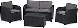 Комплект садовой мебели Allibert by Keter Modena Lounge Set with Storage Table Graphite ( графит ), фото 6
