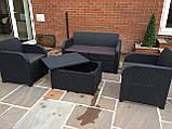 Комплект садових меблів Allibert by Keter Modena Lounge Set with Storage Table штучний ротанг, фото 6