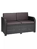 Комплект садових меблів Allibert by Keter Modena Lounge Set with Storage Table штучний ротанг, фото 9