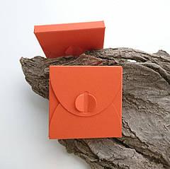 Подарунковий конверт-коробочка 70х70х8 мм з кольорового дизайнерського картону Чилі