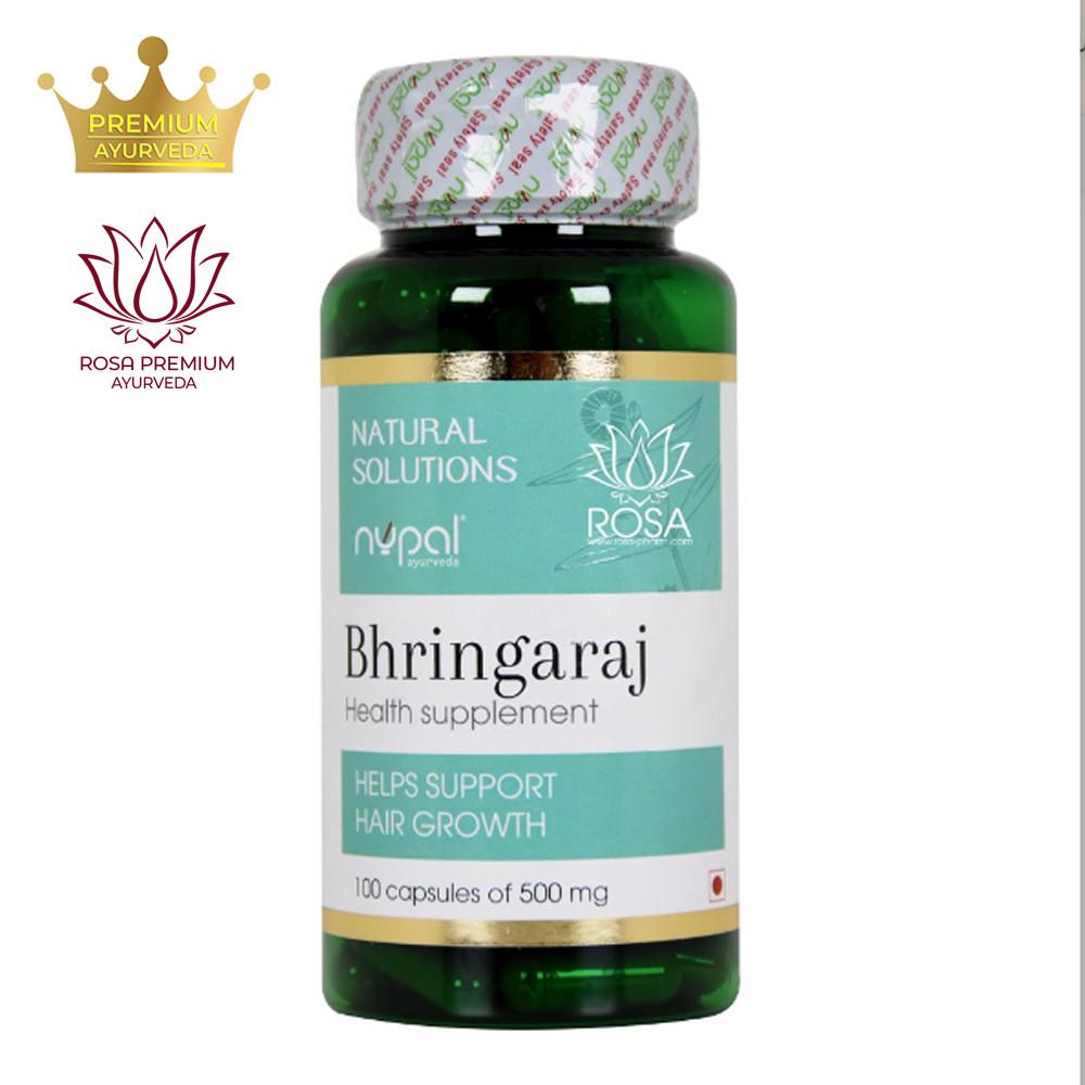 Брингарадж (Bhringaraj Capsules, Nupal Remedies), 100 капсул - рост и укрепление волос