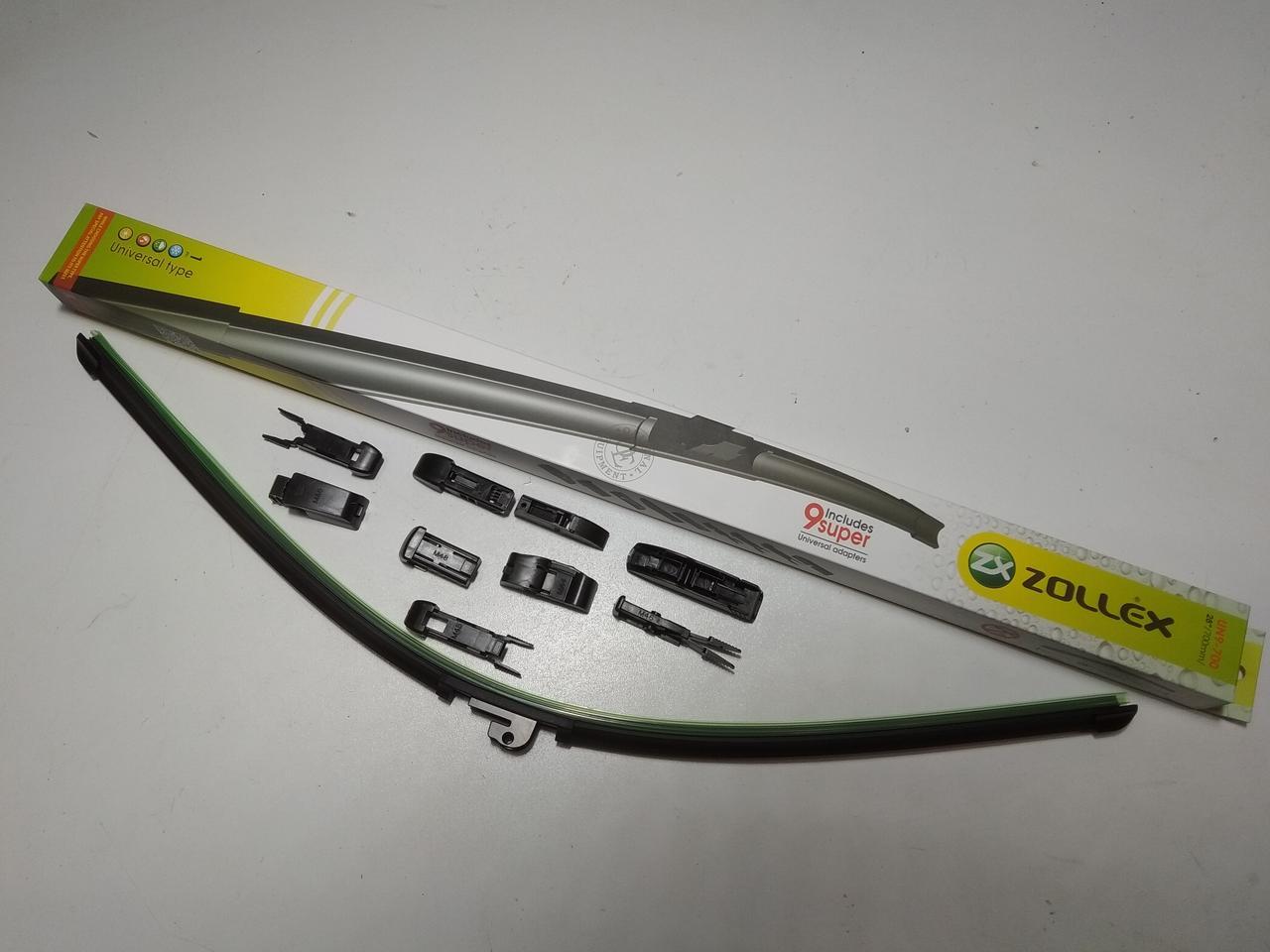 """Щетка стеклоочистителя Zollex  700 мм 28"""" (UN9-700) без корпуса (ресничка) 1шт."""