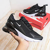 N1ke Air Max 270 черные кроссовки кеды мужские кросовки43,45 в наличии)