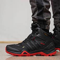 Зимние мужские кроссовки 31931, Adidas Terrex Gore Tex, черные, [ 41 42 ] р. 41-26,4см.