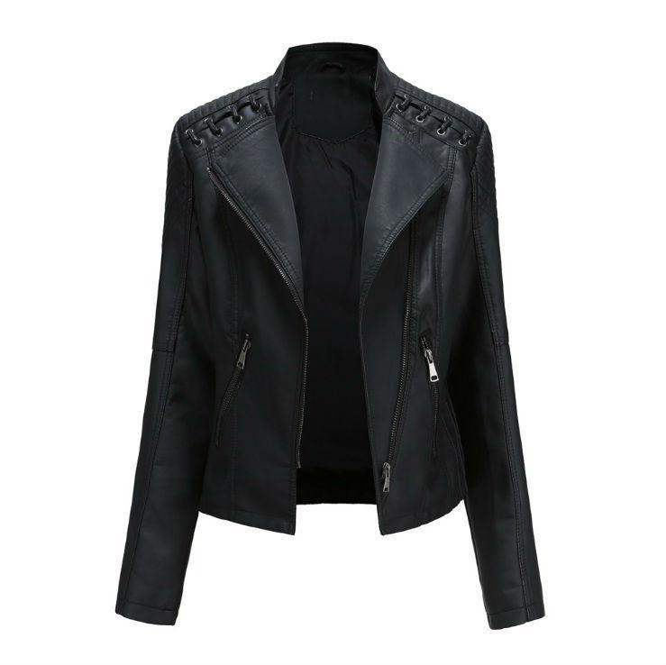 """Косуха женская """"Black"""" куртка из эко кожи Купить куртку косуху женскую """"Black"""" Недорого!"""