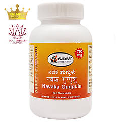 Навака Гуггул (Navaka Guggulu, SDM), 100 таблеток по 750 мг - для зниження ваги, Аюрведа преміум класу