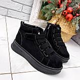 Ботинки женские Nies черные 2817, фото 3