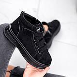 Ботинки женские Nies черные 2817, фото 6