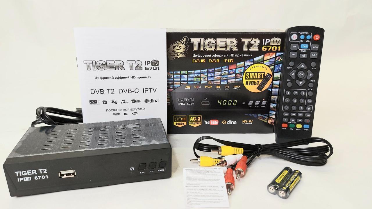 Tiger T2 тюнер IPTV Т2 + AC3 IPTV (учень пульт)