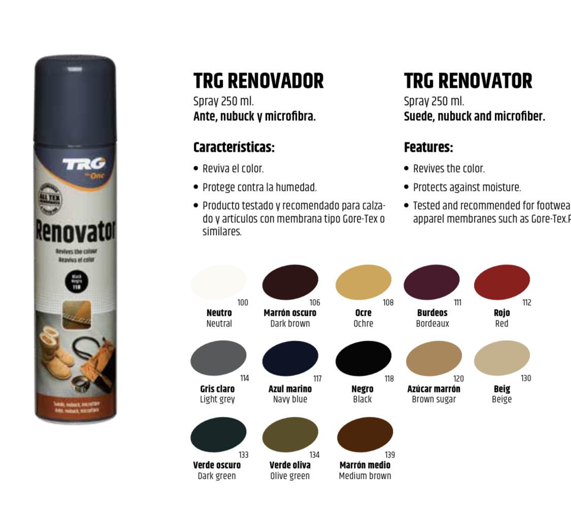 Аэрозольная краска темно-синяя для замши и нубука TRG Renovator 250ml #117